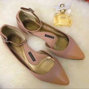 Anthropologie Pied Juste Rose Ombre Glossed Flats